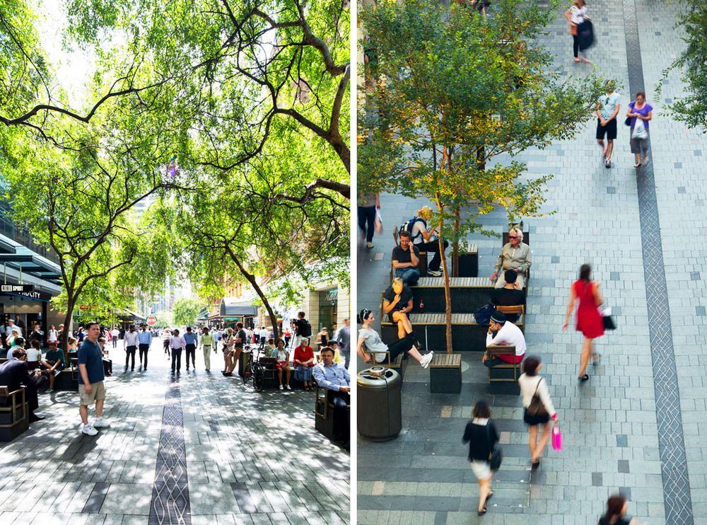 悉尼皮特商业步行街设计